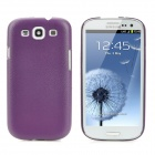 Protective Hard Plastic Back Case for Samsung Galaxy SIII i9300 - Dark Purple