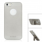 BASEUS CIAPIPH5-0V Protective Plastic Back Case w/ Stand + Screen Film for Iphone 5 - Silver Grey