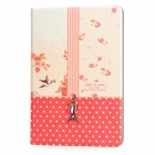 Eiffel Tower Style Protective PU Leather Case for Ipad MINI - Red + Lemonchiffon