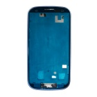 Replacement PVC + Aluminum Alloy Front Case Module for Samsung i9300 / S3 - Blue
