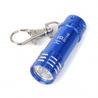 Portable 3-LED White Light Flashlight Keychain - Blue (3 x LR44)