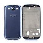 Genuine Replacement Back + Front Body Case Module for Samsung i9300 / S3 - Blue