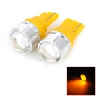Highlight T10 1.5W 40lm 590nm Yellow Light LED Car Steering Light w/ Lens - (DC 12V / 2 PCS)