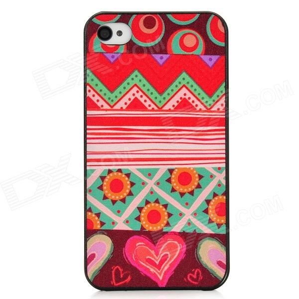 Protective Fashion Pattern Back Case for Iphone 4 / 4S - Multicolored halloween devil moon pattern protective pc back case for iphone 6 4 7 black multicolored