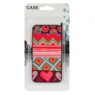 Protective Fashion Pattern Back Case for Iphone 4 / 4S - Multicolored