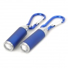 Aluminum Alloy LED White Zooming Flashlight Keychains - Blue (2 PCS / 3 x LR44)