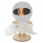 Forest Ghost Mummy Style Wooden Doll - White + Yellow