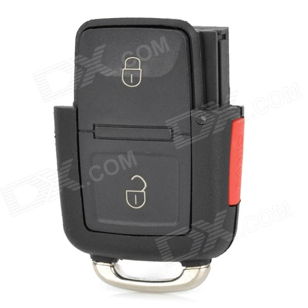 3-Key Remote Control Car Key Shell Case for Volkswagen Passat - Black + Red