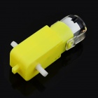 Dual Axis Reducer Motor for Smart TT Car - Yellow + Silver (DC 3~6V)