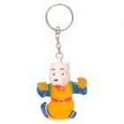 Cute MR D Dog Style PVC Keychain - Yellow + Blue + Silver