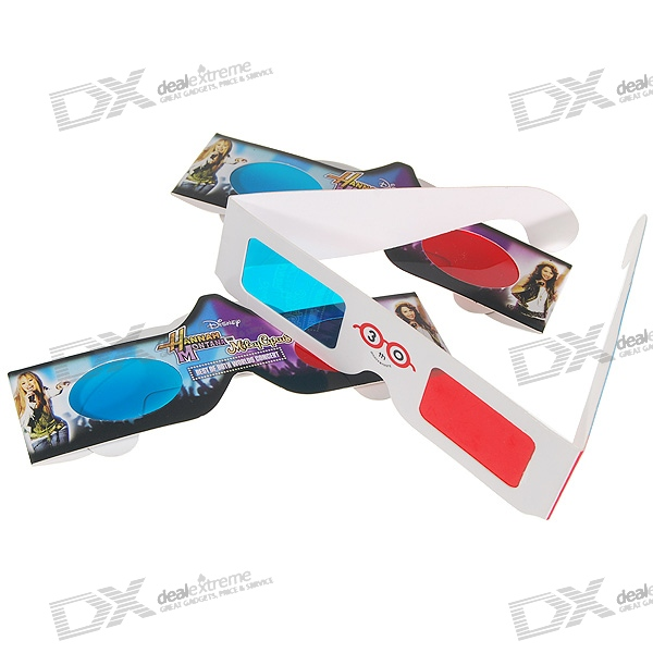 Disposible Anaglyphic Red + Blue 3D Glasses (Assorted 2-Pack)