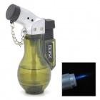 d009 Flagon Shaped Copper Aluminum Alloy Butane Jet Torch Lighter - Olivedrab