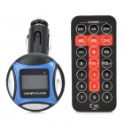 "1"" LCD Car MP3 Music Speaker FM Transmitter w/ USB / SD / TF / Remote Controller - Blue + Black"