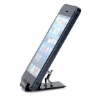 Samdi Protective Aluminum Alloy Holder w/ Man for Cellphones / GPS / Tablets - Black