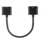 30 pin Female to Female Extension Cable for iPhone + iPad - Black (20cm)