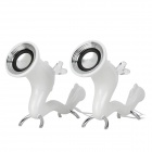 i-mu Dragon Style Creative USB Power 2-Channel Speakers Set - White + Silver