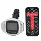 "1.4"" LCD 4-in-1 Car MP3 Player Transmitting Frequency w/ USB / SD / TF / Remote Controller - Silver"