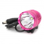 950lm 4-Mode White Bicycle Headlamp w/ Cree XM-L T6 - Magenta (4 x 18650)