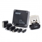 Ozio E12 2-in-1 Universal / Travel US Plug Charger w / 6 x Adapter - Schwarz