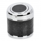 Creative Stainless Steel Ashtray w/ Flip Cap - Black + Silver