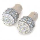 1157 1.56W 12V 36-LED Car Brake Signal Light Bulbs - White (2-Pack)