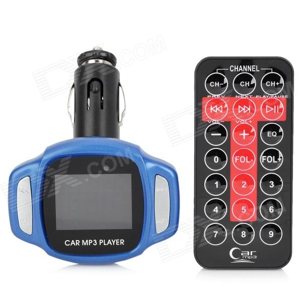 1.4 LCD 4-in-1 Car MP3 Player Transmitting Frequency w/ USB / SD / TF / Remote Controller - Blue ks 508 mp3 player stereo headset headphones w tf card slot fm black