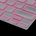Protection Silicone clavier couvercle protecteur de la peau de protection pour MacBook Pro - Transparent + rose