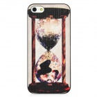Phantom Hourglass Pattern Protective Matte Plastic Case for iPhone 5 - White + Black