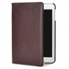 Lychee Pattern Protective Swivel 360 Degree Rotating PU Leather Case for Ipad MINI - Brown