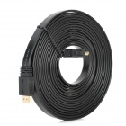 Flat HDMI Male to Male Connection Cable - Black (514cm)