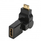 HDMI V1.4 Male to Male Cable w/ 180' Rotation Mini HDMI Male to HDMI Female Adapter - Black (150cm)