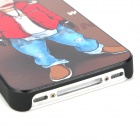 Cartoon Embossed Style Protective PC Hard Back Case for Iphone 4 / 4S - Multi-Colored