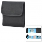 Square 3-Pocket Mutispandex Bag for 49mm~82mm UV Protective Lens - Black