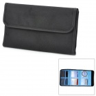 Rectangle 6-Pocket Mutispandex Bag for 49mm~82mm UV Protective Lens - Black