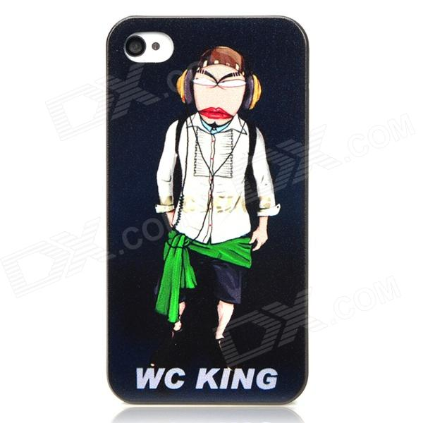 WC KING Cool Man Relief Style Protective PC Back Case for Iphone 4 / Iphone 4S - Black wc king cool man relief style protective pc back case for iphone 4 iphone 4s black