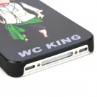 WC KING Cool Man Relief Style Protective PC Back Case for Iphone 4 / Iphone 4S - Black