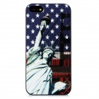 Statue of Liberty Pattern Protective Plastic Back Case for Iphone 5 - Dark Blue + White + Black