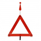Folding Car Park Reflective Triangle Warning Sign - Red + White