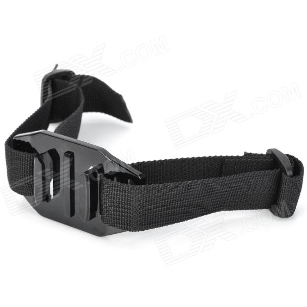 SMJ Wearable Head Belt Mount Strap for GoPro + More - Black (24cm)