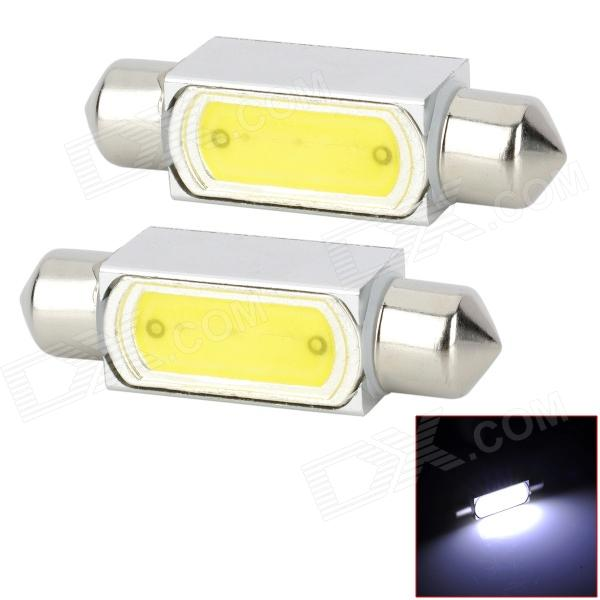 lampe de lecture de voiture blanche de feston de 39mm 3W 150lm LED (12V / 2 PCS)