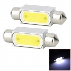 Festoon 39mm 3W 150lm LED White Car Reading Light (12V / 2 PCS)