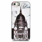 Retro Church Pattern Protective Frosted Back Case for Iphone 5 - White + Black