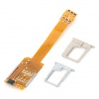 01 Dual Twin SIM Card Adapter for iPhone 5 + iPhone 4 / 4S - Golden
