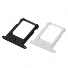 Replacement Aluminum Alloy Nano SIM Card Tray for Iphone 5 - Black + Silver (2 PCS)