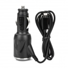 Auto Zigarette Powered Adapter w / 8 Pin Blitz Male Kabel für iPhone 5 - Schwarz (DC 10 ~ 30V)