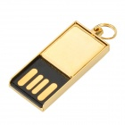 Mini Ultrathin USB 2.0 Flash Drive Memory Stick - Golden (4GB)