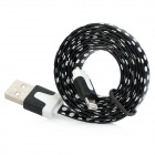 Polka Dot 8-pin Blitz USB Data Flat Kabel für iPhone 5 / iPad 4 / iPad mini - Black + White