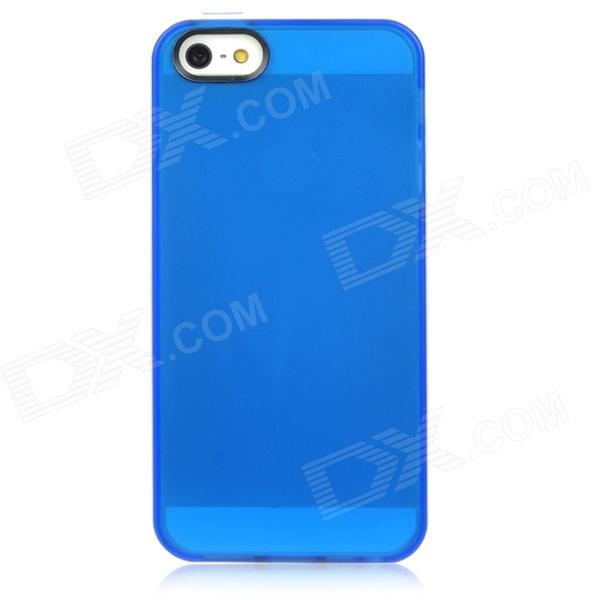 Stylish Protective PVC Back Case for iPhone 5 - Blue + White