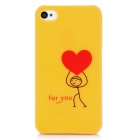 love back pattern protector de espalda para IPHONE 4 / 4S - amarillo