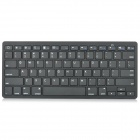 K1280 Ultra Thin Wireless Bluetooth V3.0 78-Key Keyboard for iPad / PC / laptop / PS3 + More - Black